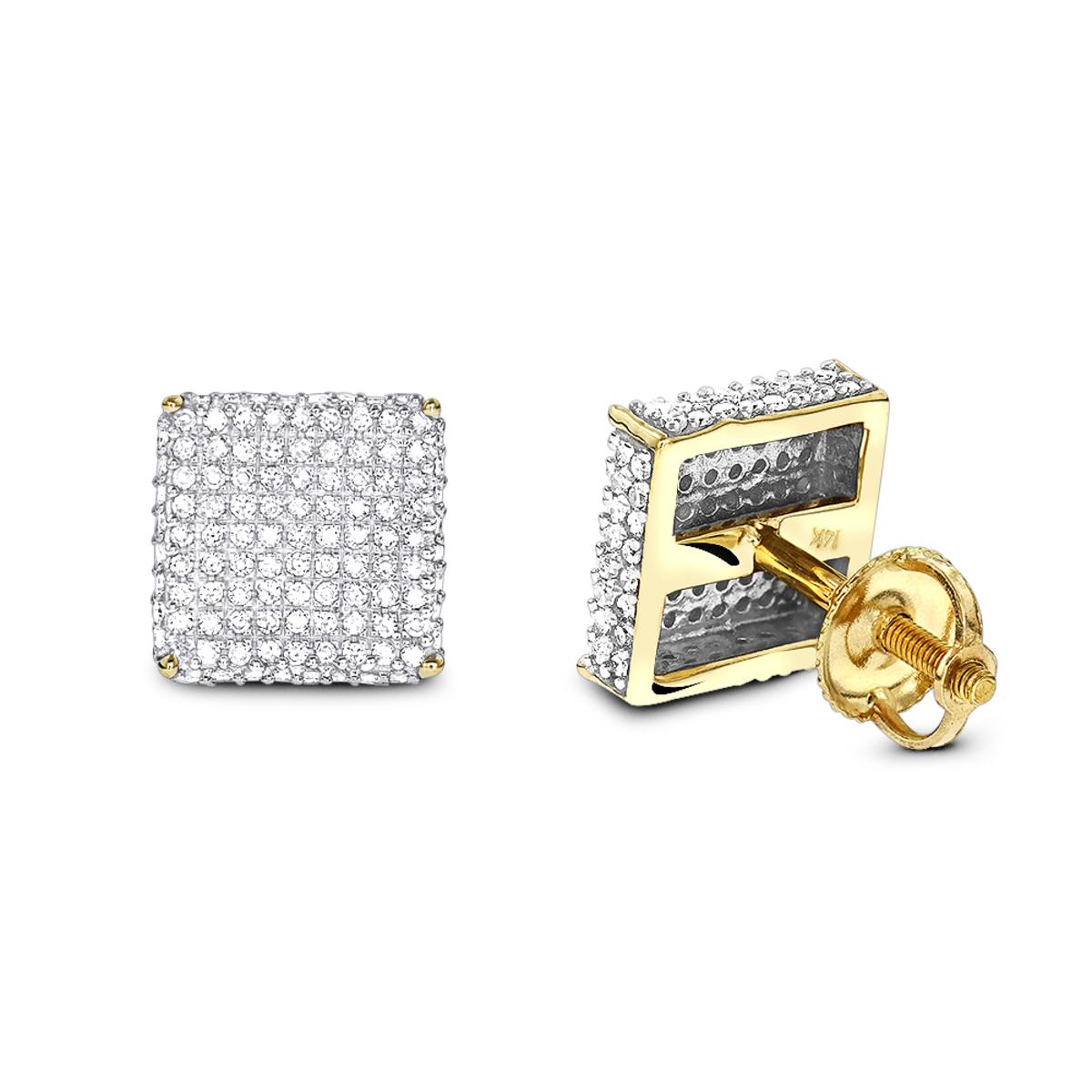1 Carat Diamond Earrings 14K Gold Studs