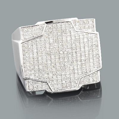 1 Carat Mens Diamond Ring 10K Gold