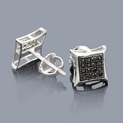 10K Black Diamond Stud Earrings 0.18ct Kytes