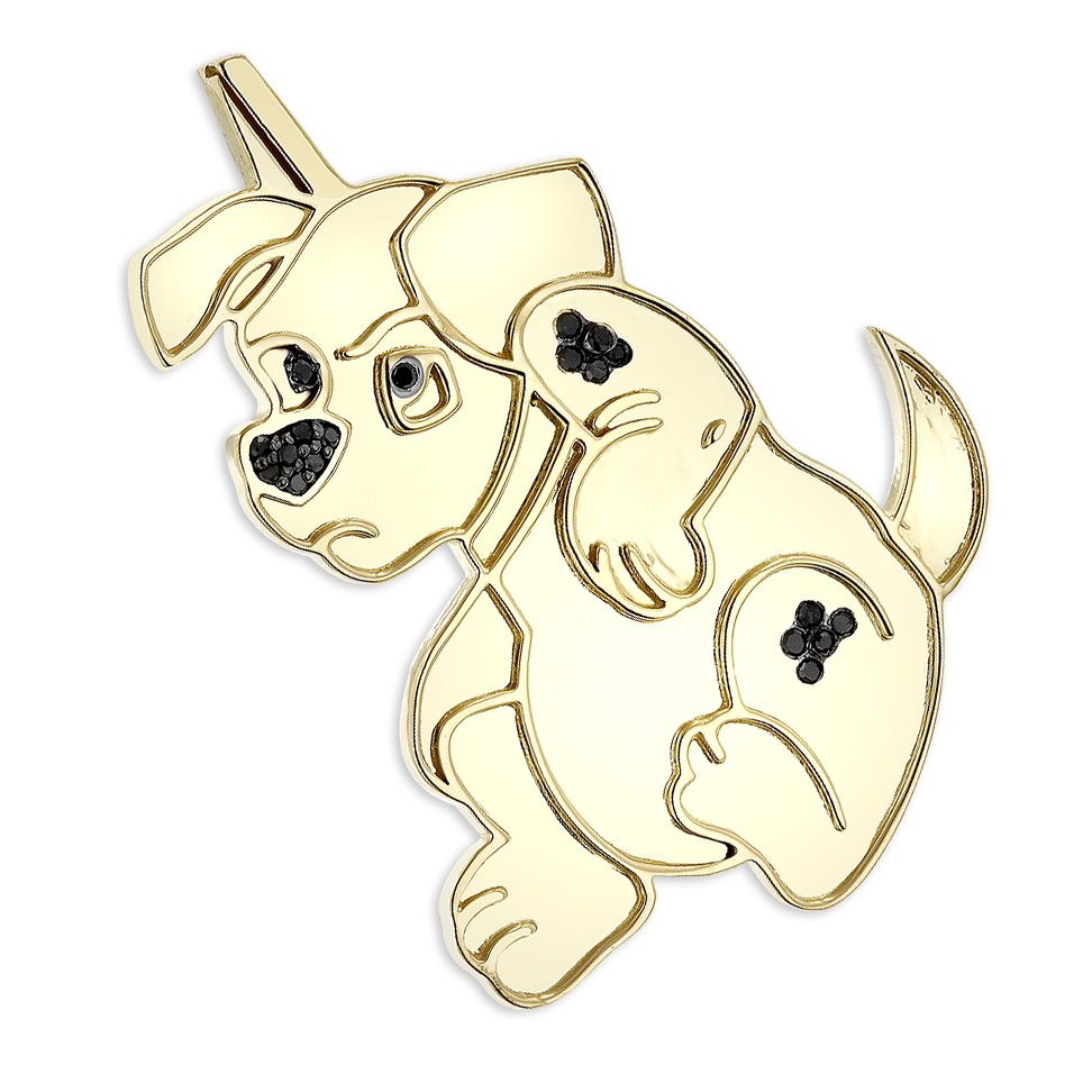 10k gold custom jewelry real diamond dog pendant dalmatian puppy 10k gold custom jewelry real diamond dog pendant dalmatian puppy 015ct aloadofball Image collections
