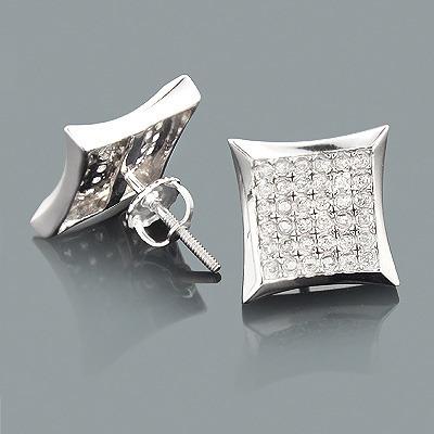 10K Gold Diamond Earrings 0.70ct
