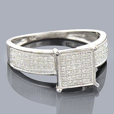14K Gold Diamond Engagement Ring 0.42ct