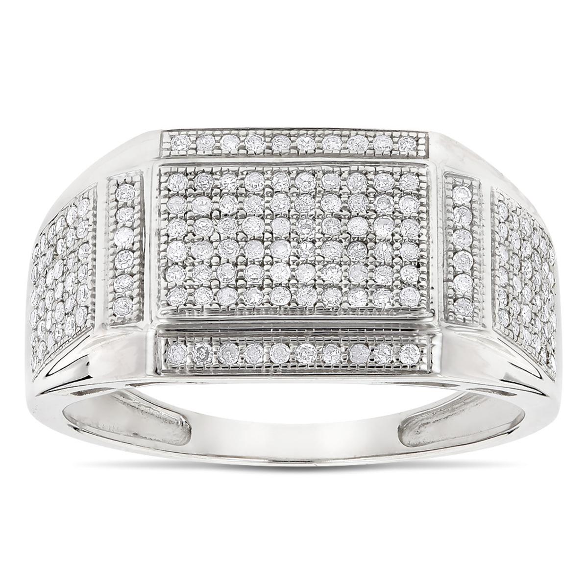10K Gold Mens Diamond Ring 0.5ct