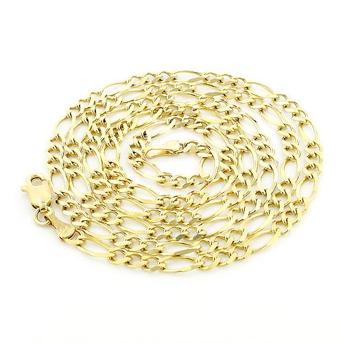 10K Yellow Gold Figaro Chain 3.5mm 18-24in