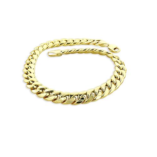 11mm Yellow Gold Miami Cuban Link Chain Bracelet in 10K 7.5-9in