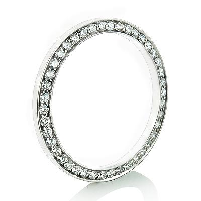 1.2 Carat Custom Diamond Bezel for Midsize Rolex Datejust Watch