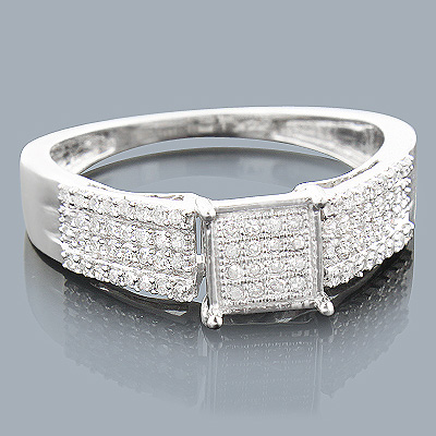 14K Affordable Diamond Engagement Ring 0.31ct
