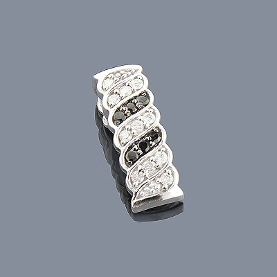 14K Black and White Diamond Pendant 0.27ct
