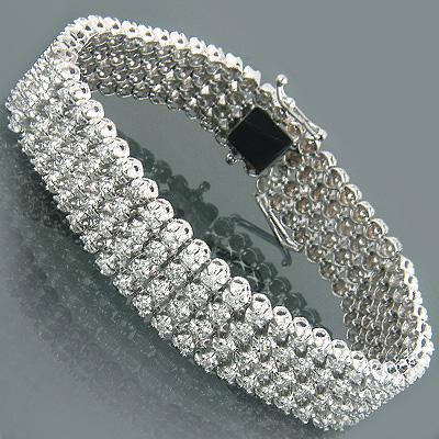 14K Designer Diamond Bracelets Collection Piece 7.00ct