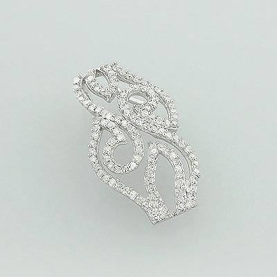 14K Designer Diamond Pendant 0.36ct