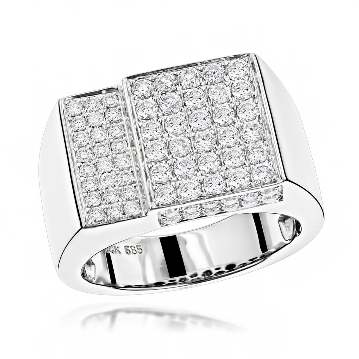 14K Designer Diamond Ring 1.55ct