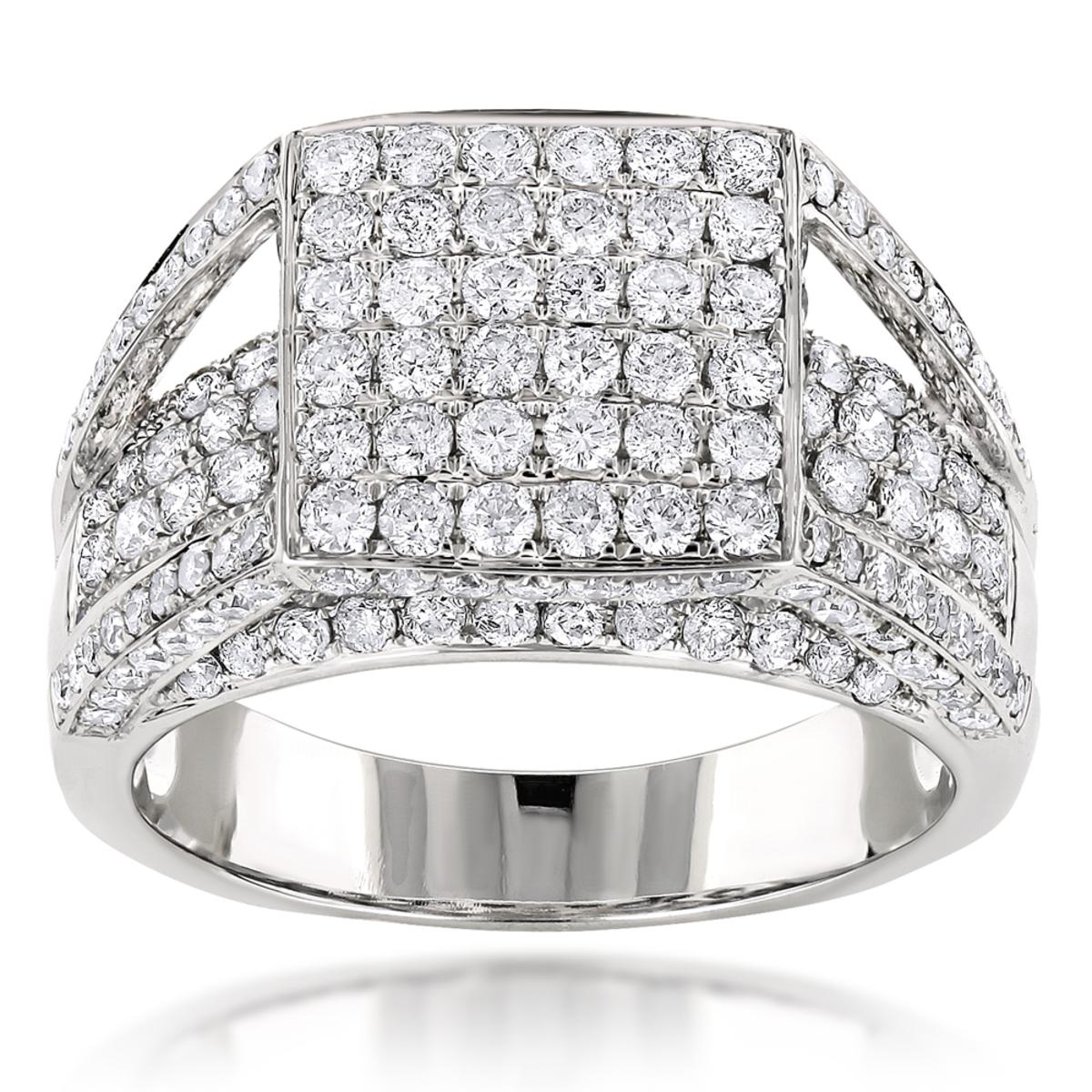 14K Designer Diamond Ring 2.79ct