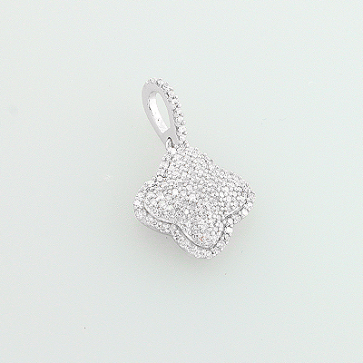 14K Diamond Clover Pendant 0.38ct