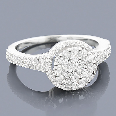 14K Diamond Cluster Ring 0.67ct