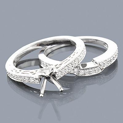 14K Diamond Engagement Ring Mounting Set 0.51ct