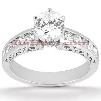 14K Gold Antique Diamond Engagement Ring 0.78ct