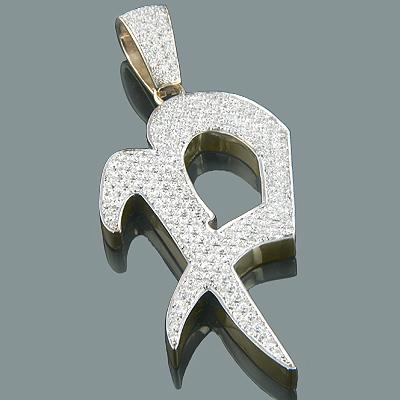 14k gold alphabet custom made initial diamond letter pendant 495ct aloadofball Image collections
