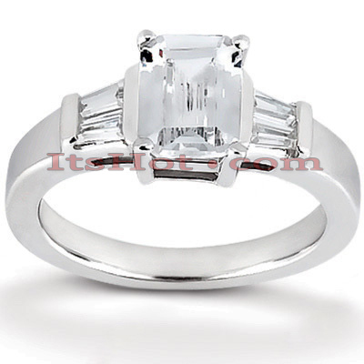 14K Gold Designer Diamond Engagement Ring 0.41ct