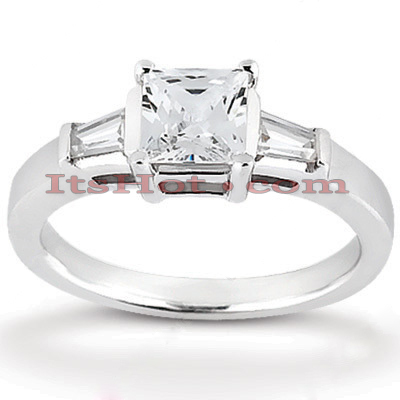 14K Gold Designer Diamond Engagement Ring 0.56ct