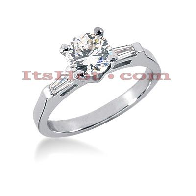 14K Gold Designer Diamond Engagement Ring 0.62ct
