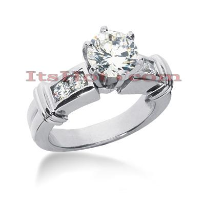 14K Gold Designer Diamond Engagement Ring 0.66ct