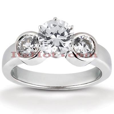 14K Gold Designer Diamond Engagement Ring 0.70ct