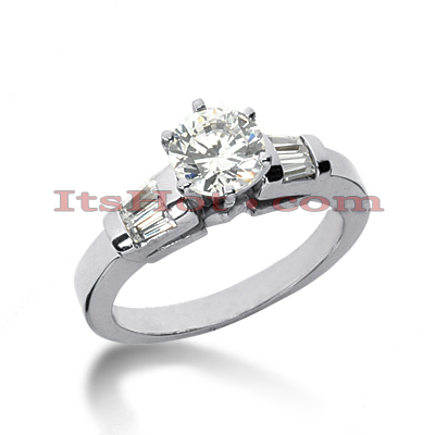 14K Gold Designer Diamond Engagement Ring 0.74ct