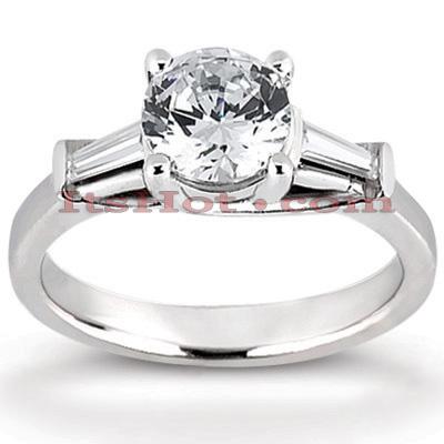 14K Gold Designer Diamond Engagement Ring 0.76ct