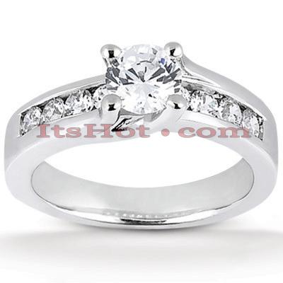 14K Gold Designer Diamond Engagement Ring 0.77ct