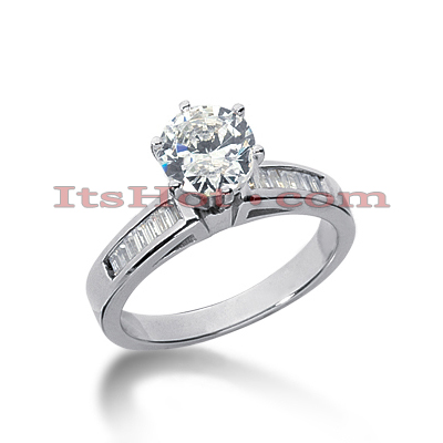 14K Gold Designer Diamond Engagement Ring 0.80ct
