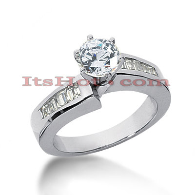 14K Gold Designer Diamond Engagement Ring 0.82ct