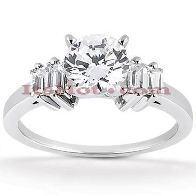 14K Gold Designer Diamond Engagement Ring 0.86ct