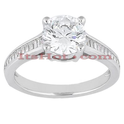 14K Gold Designer Diamond Engagement Ring 0.87ct