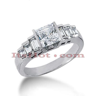 14K Gold Designer Diamond Engagement Ring 0.90ct