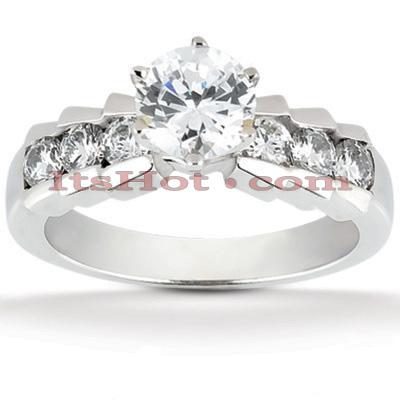 14K Gold Designer Diamond Engagement Ring 0.92ct