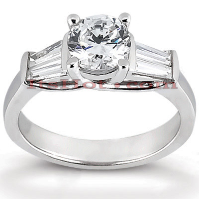 14K Gold Designer Diamond Engagement Ring 1.02ct