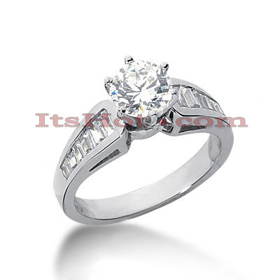 14K Gold Designer Diamond Engagement Ring 1.06ct