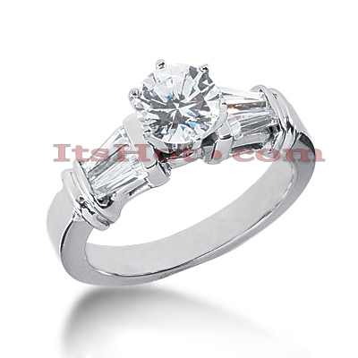 14K Gold Designer Diamond Engagement Ring 1.14ct