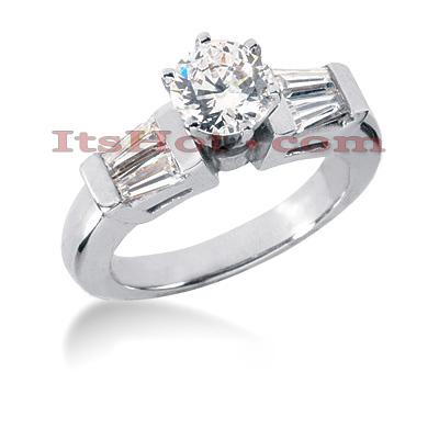 14K Gold Designer Diamond Engagement Ring 1.18ct