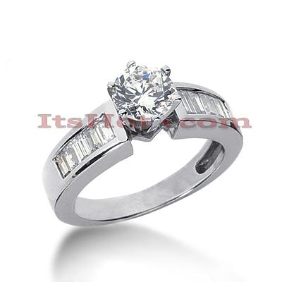 14K Gold Designer Diamond Engagement Ring 1.30ct