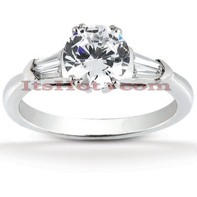 14K Gold Designer Diamond Engagement Ring 1.32ct