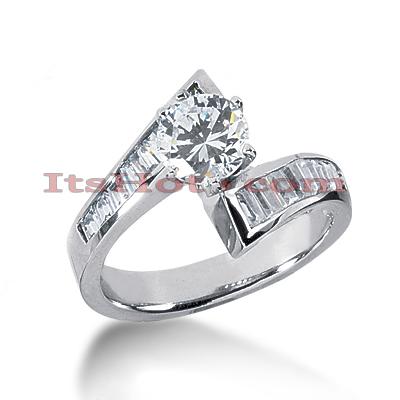 14K Gold Designer Diamond Engagement Ring 1.46ct