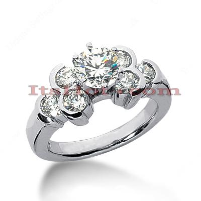 14K Gold Designer Diamond Engagement Ring 1.70ct