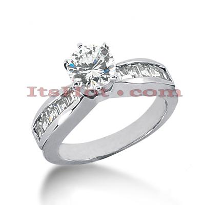 14K Gold Designer Diamond Engagement Ring 1ct