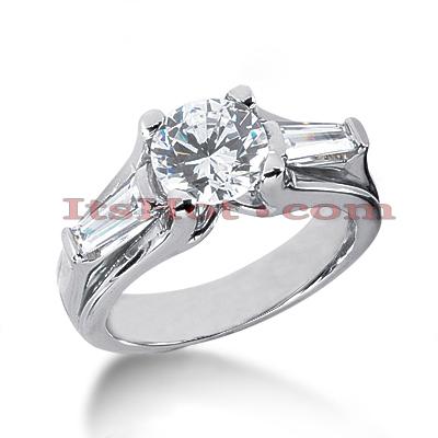 14K Gold Designer Diamond Engagement Ring 2.06ct
