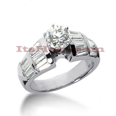 14K Gold Designer Diamond Engagement Ring 2.46ct