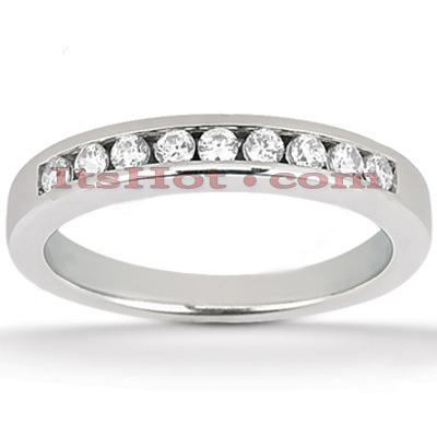 Thin 14K Gold Designer Diamond Engagement Ring Band 0.20ct
