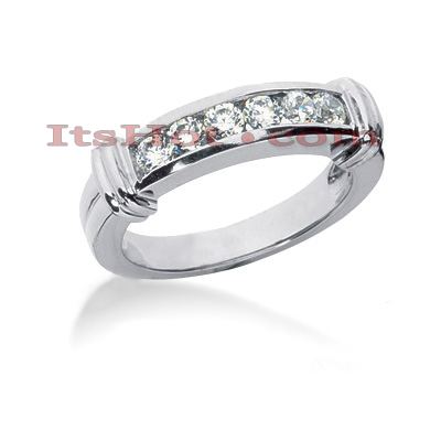 Thin 14K Gold Designer Diamond Engagement Ring Band 0.24ct