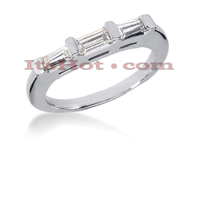 Thin 14K Gold Designer Diamond Engagement Ring Band 0.57ct