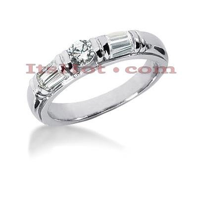 14K Gold Designer Diamond Engagement Ring Band 0.81ct